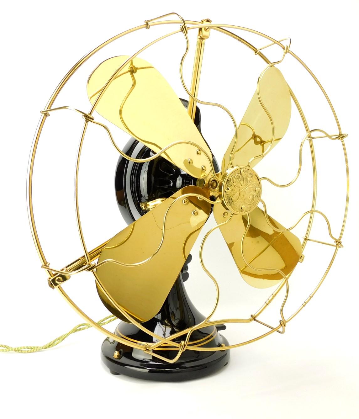 "Circa 1912 16"" GE ""Kidney"" Oscillator Desk Fan Restored"