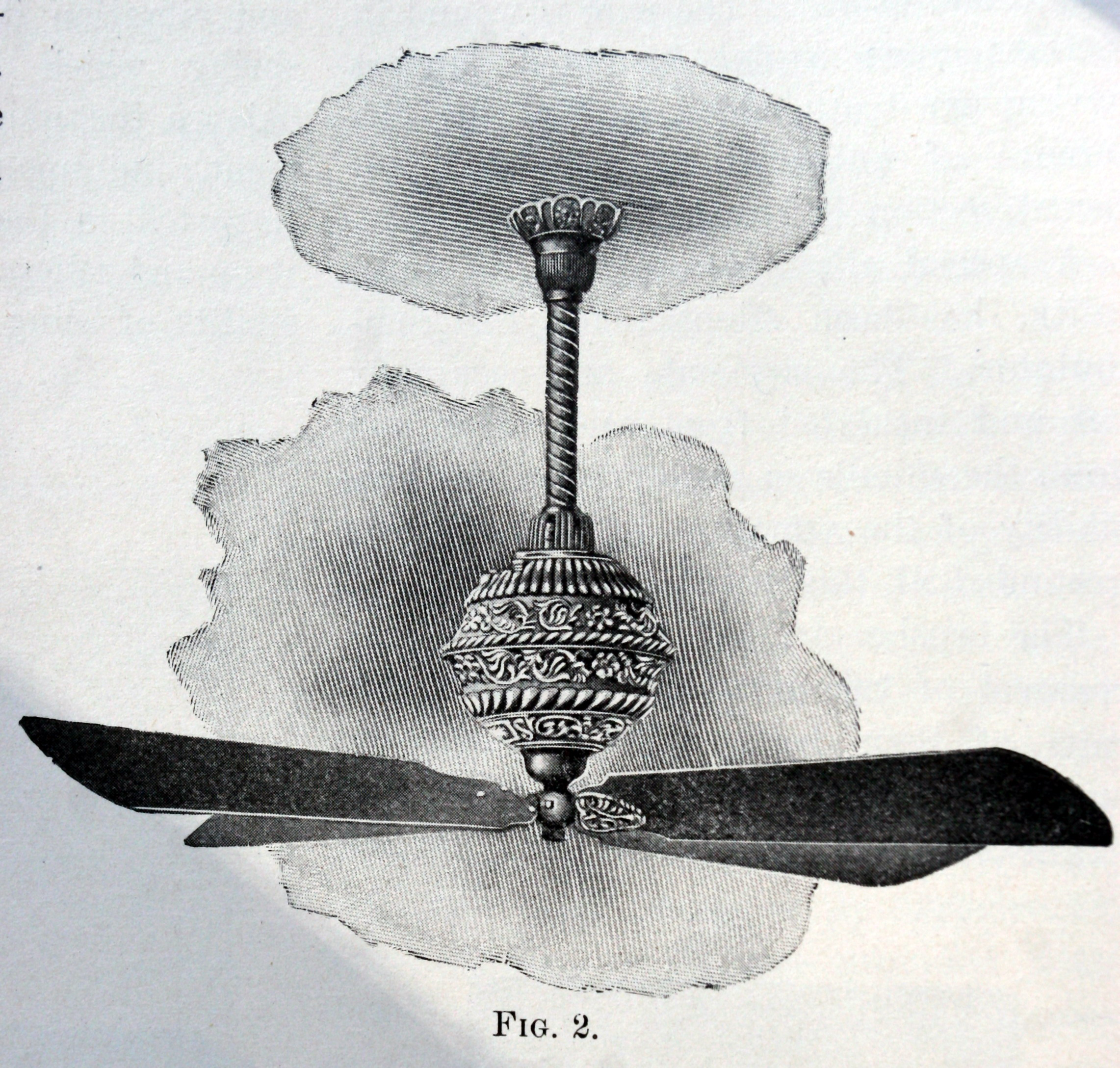 "C. 1898 Robbins & Myers ""B"" DC Ceiling Fan"