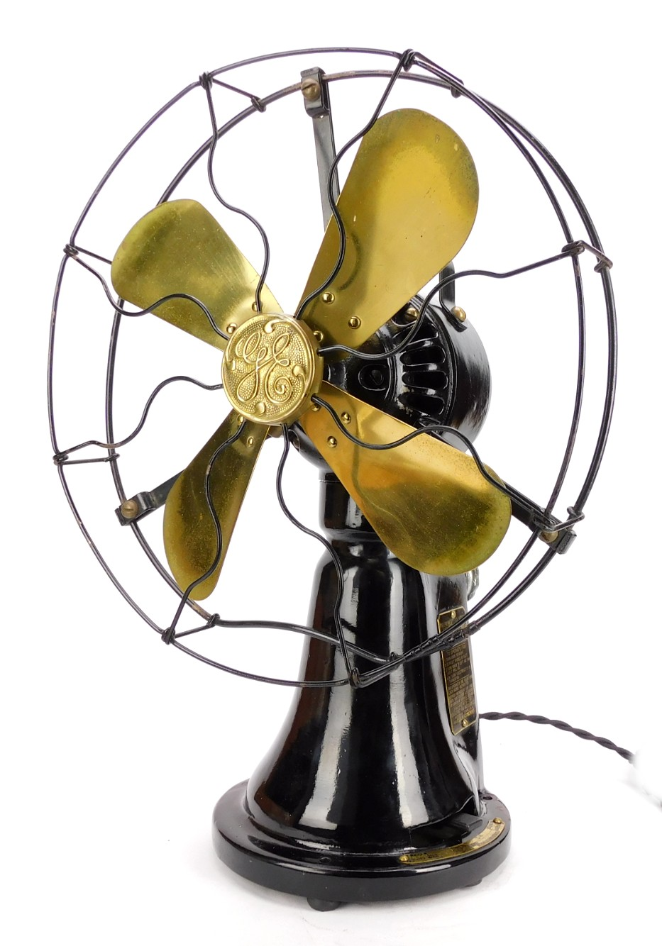 """Circa 1920 Ge Coin Operated """"Hotel"""" Fan Fully Operational"""