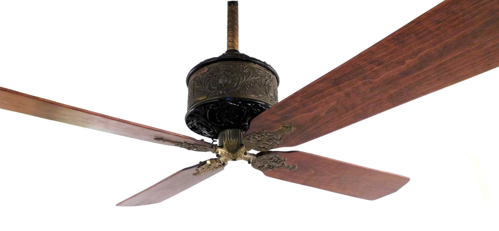 "Beautiful Late 1800's Western Electric ""Standard"" DC Ceiling Fan"