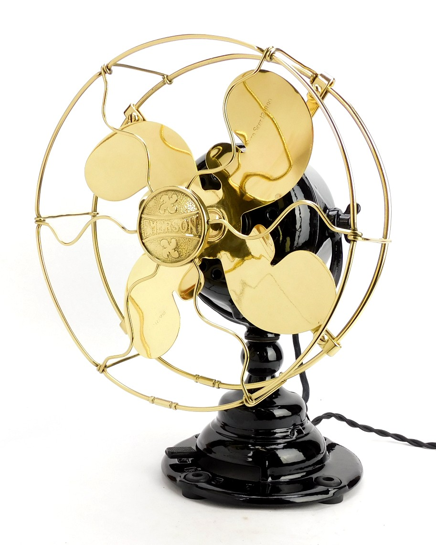 "Circa 1914 Emerson Type 19644 8"" Beautifully Restored Desk Fan"