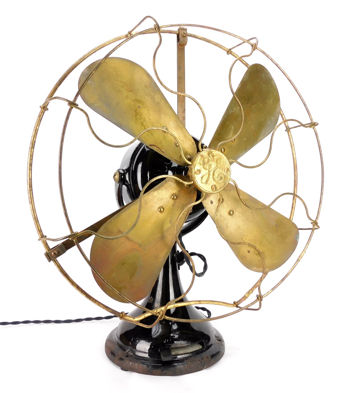 "Circa 1908 Early 16"" GE General Electric BMY Desk Fan"