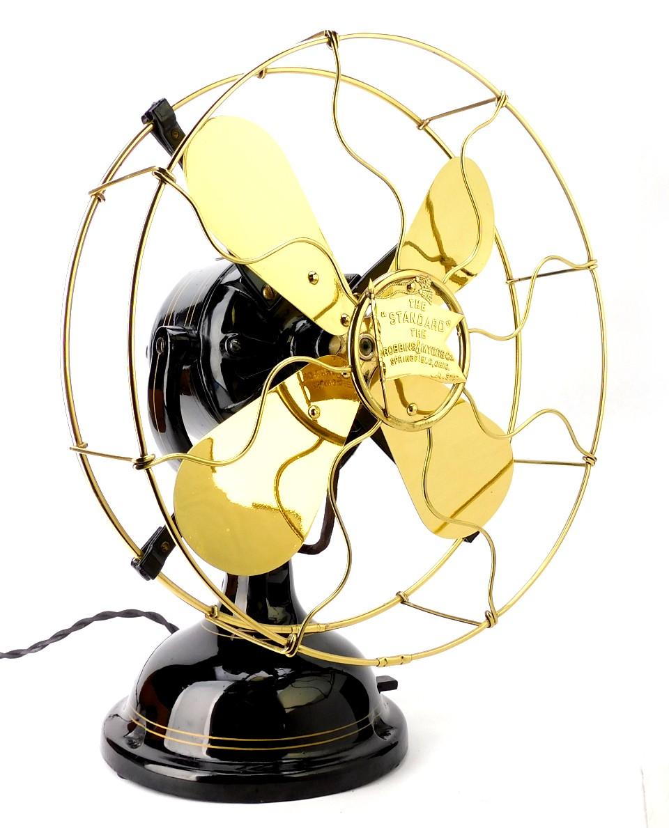 "Circa 1910 12"" Robbins & Myers R&M List No. 1404 Desk Fan"