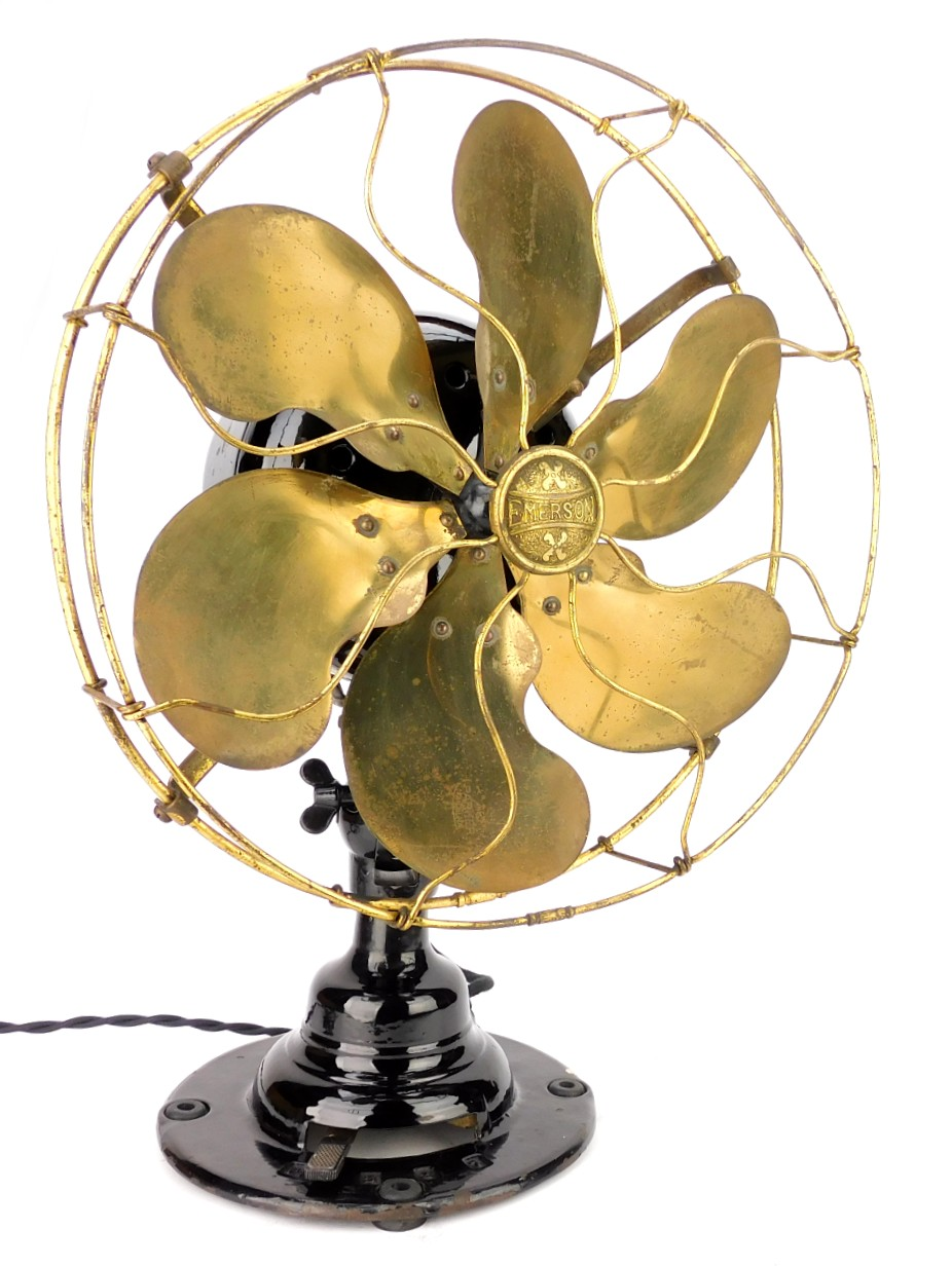 "Circa 1914 Emerson 21666 12"" Oscillating Desk Fan"
