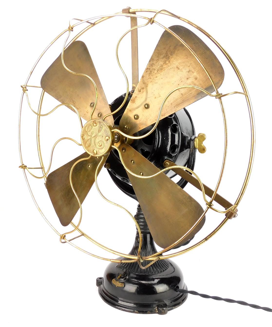 """Circa 1904 16"""" GE Pancake Desk Fan"""