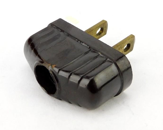 Vintage Leviton Flat Bakelite Art Deco Electric Attachment Plug
