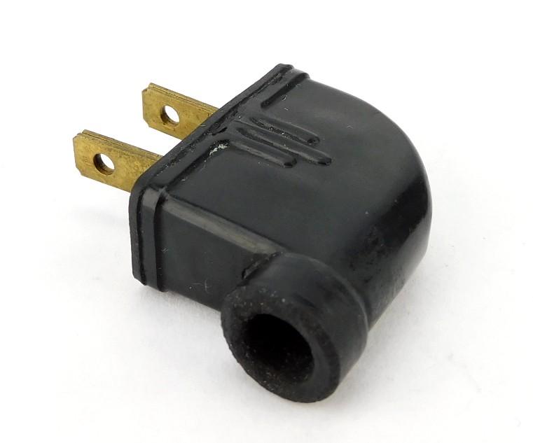 Vintage Rodale Hard Rubber 90 Degree Attachment Electric Plug