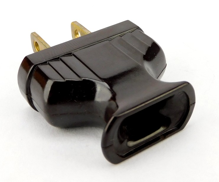 Vintage Leviton/ Eagle Flat Handy Grip Art Deco Bakelite Electric Plug