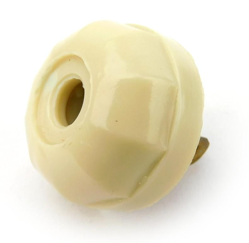 Vintage Rodale Decagon White Bakelite Electric Plug Smooth Collar
