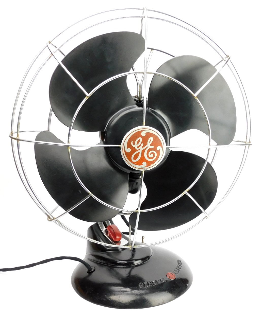 "Circa 1941 GE 12"" Desk Fan Model FM12S1"