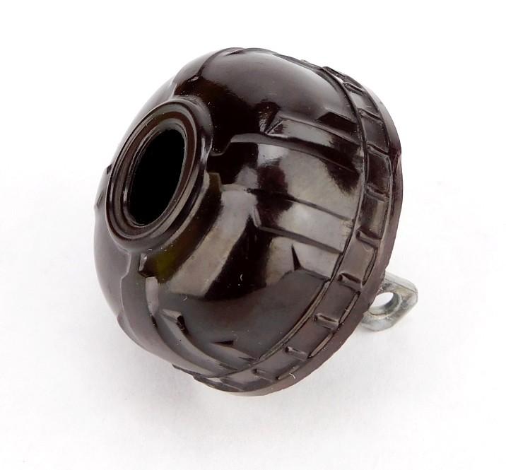 Vintage Brown Bakelite Art Deco Attachment Electrical Plug