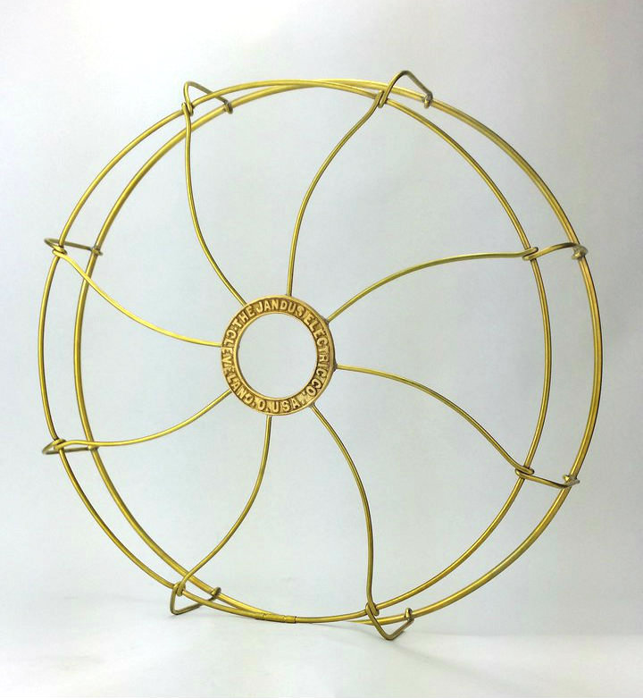 """12"""" Brass Jandus Cage/Guard with Cast Badge Limited Production"""