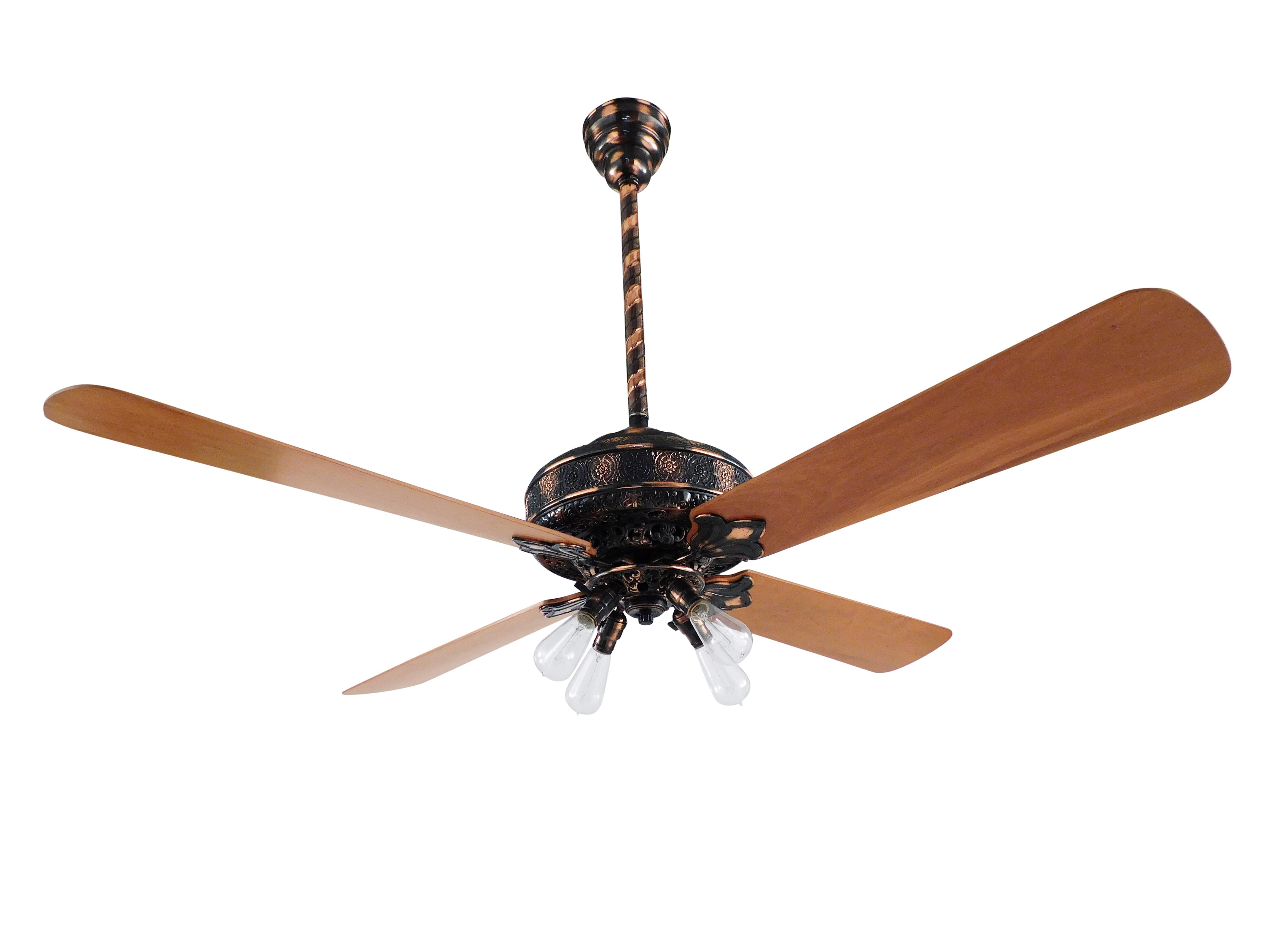 Westinghouse Deluxe Ceiling Fan Restored In Copper Oxide