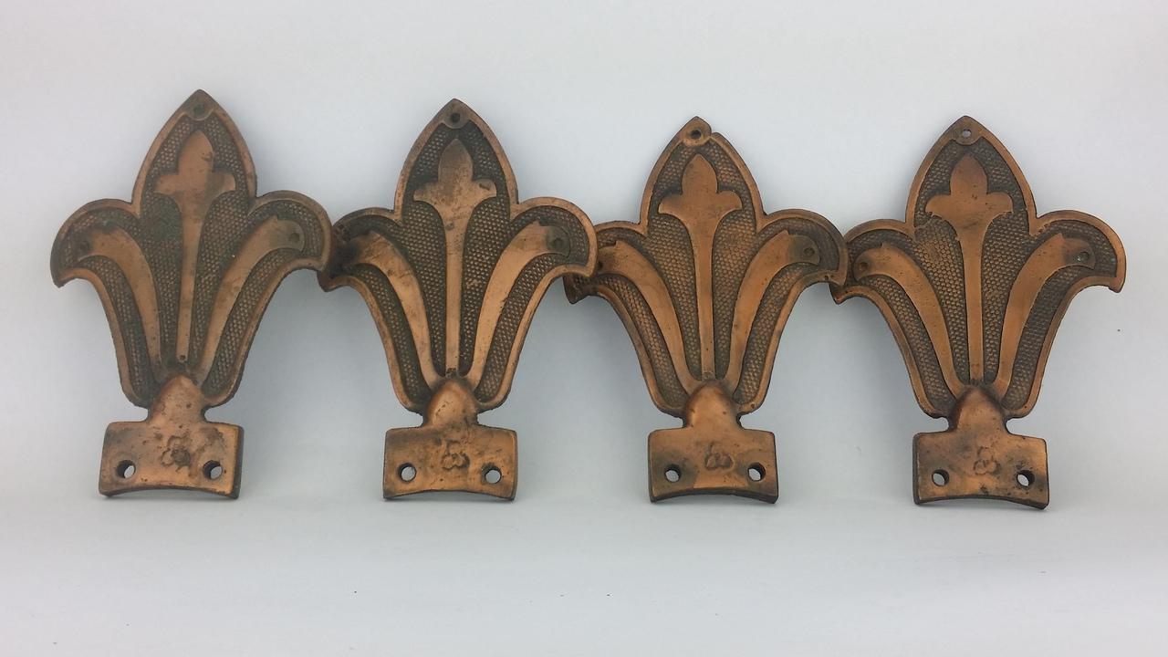 Set 4 Recast Aluminum Copper Westinghouse Deluxe Blade Irons