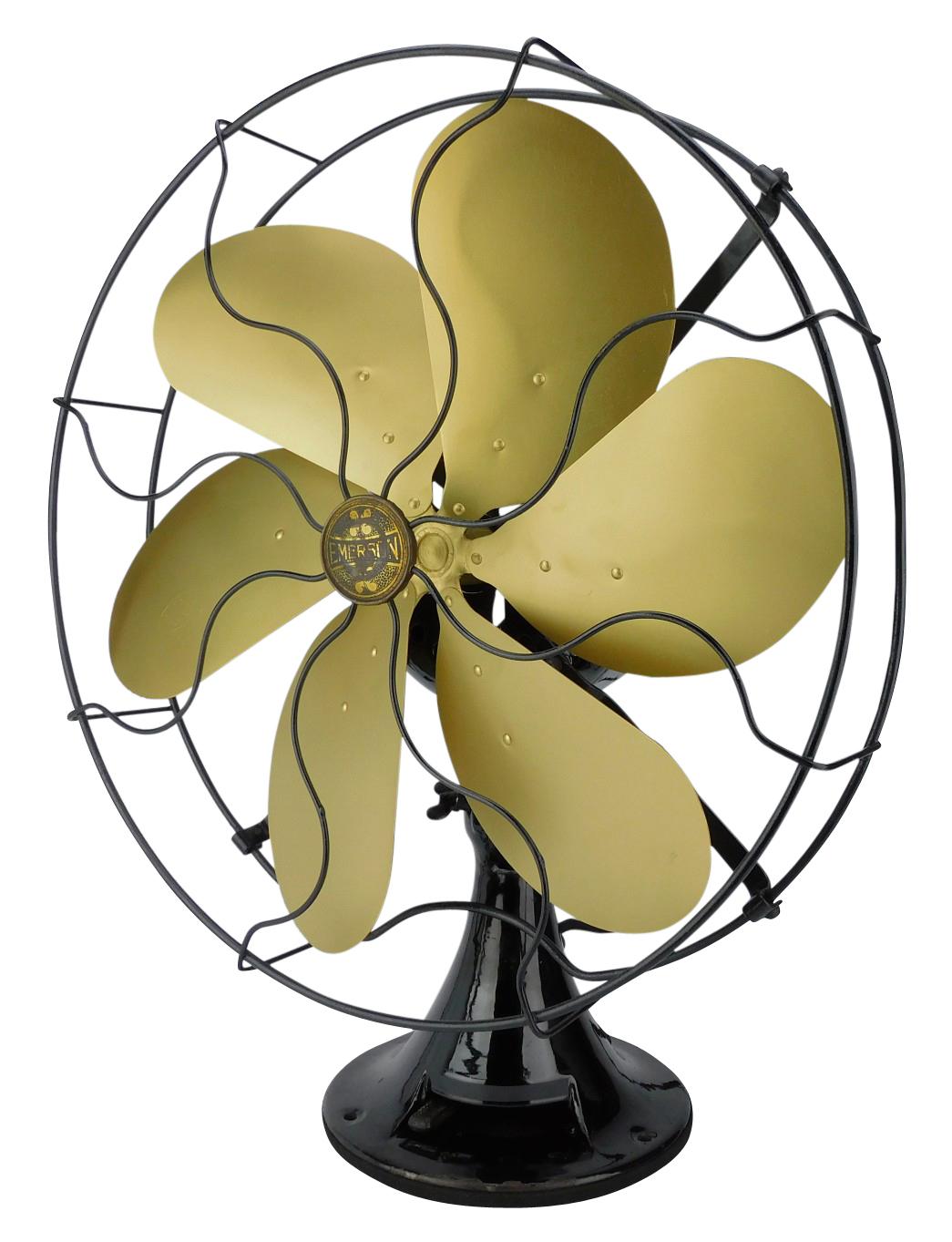 "Circa 1929 Emerson 16"" 6 Blade Oscillating Desk Fan"