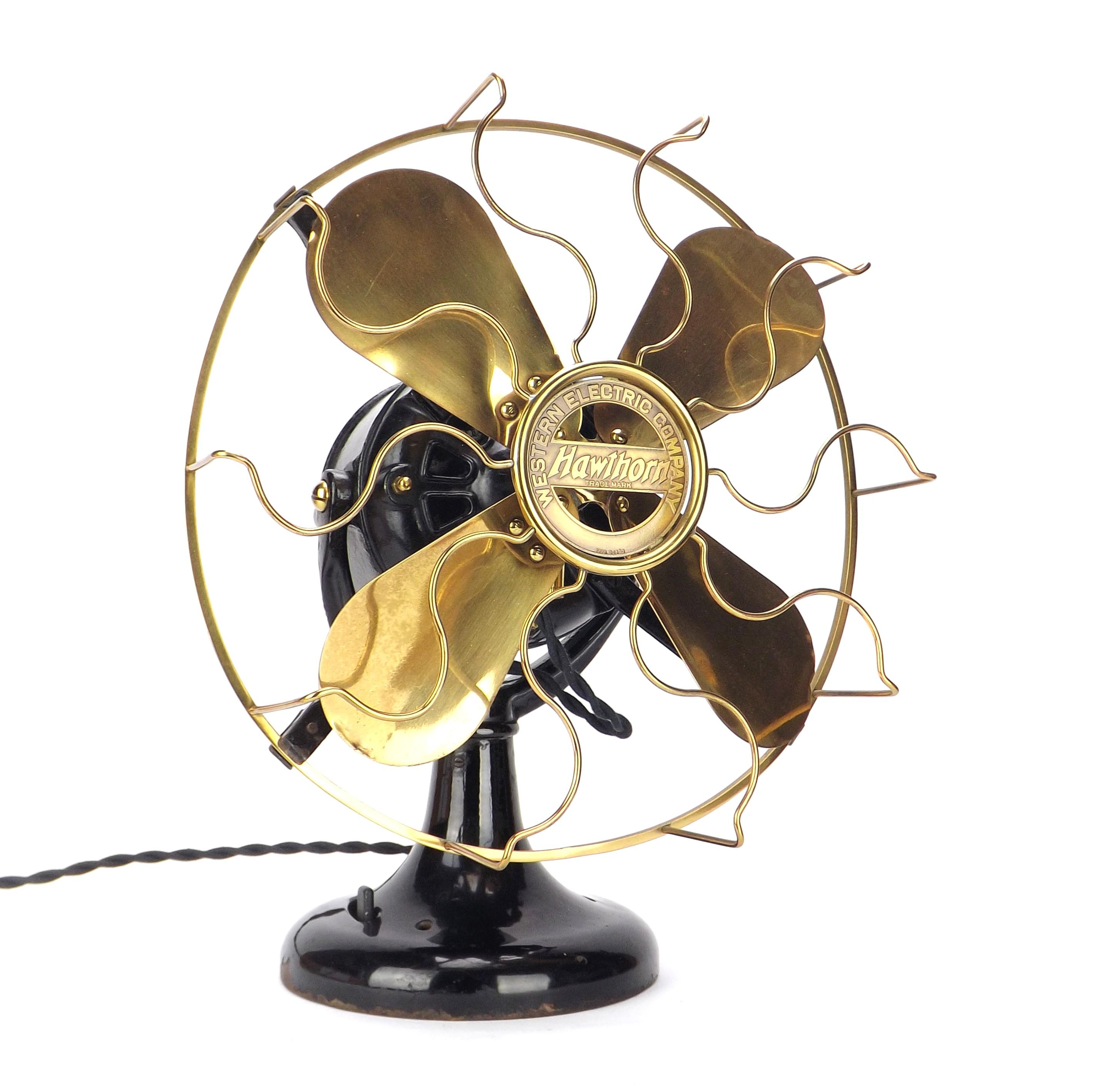 "Circa 1911 12"" Western Electric Hawthorn ""Tank"" Desk Fan"