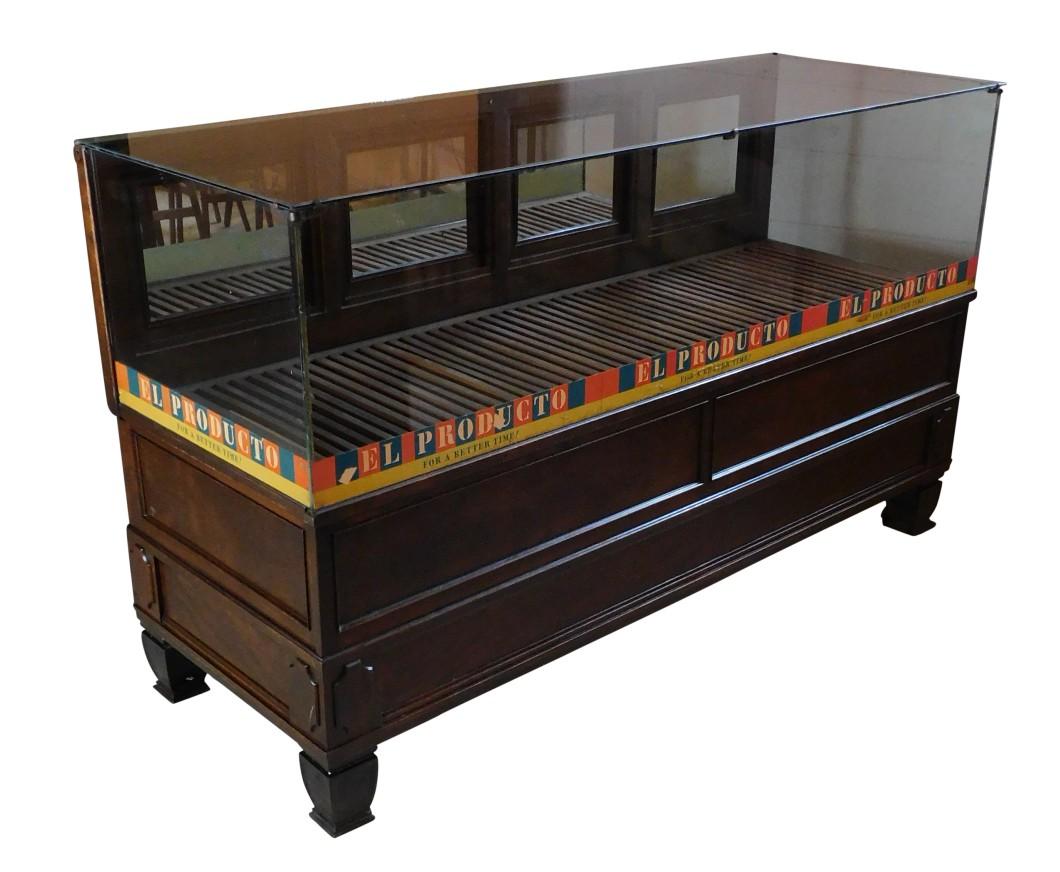 Antique Cigar Humidor Store Display Case Cabinet