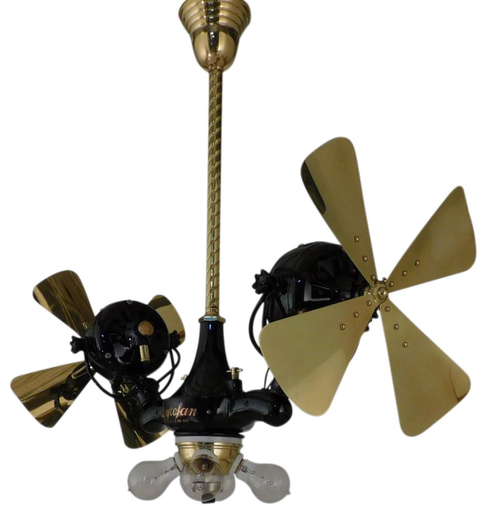 "Circa 1912 Professionally Restored 15"" Jandus ""Gyro Fan"" Ceiling Fan"