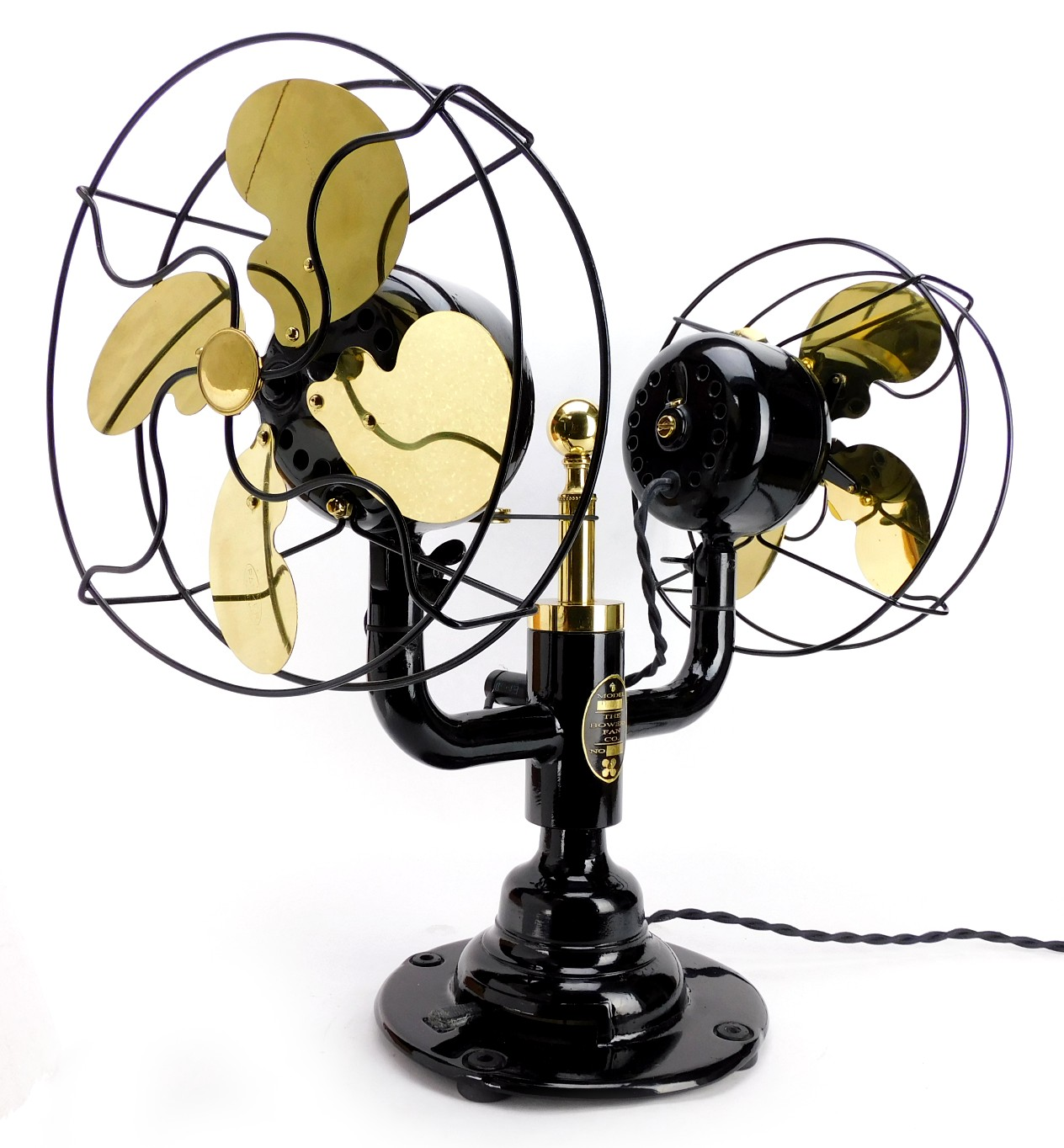 """Custom Limited Production Table Top Gyro Fan By """"The Bowers Fan Company"""""""