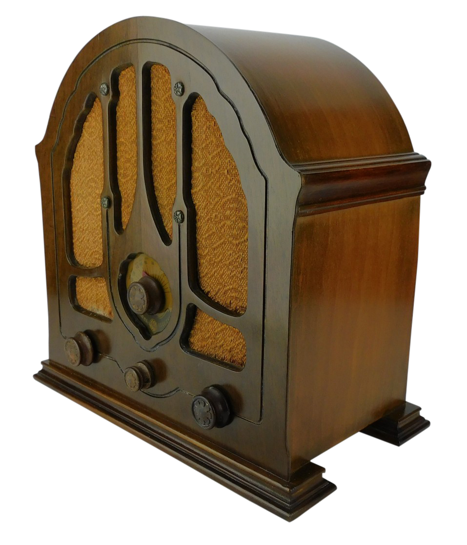 """1930's 4 Tube General Electric """"Baby"""" Cathedral Radio Mo. K-43"""