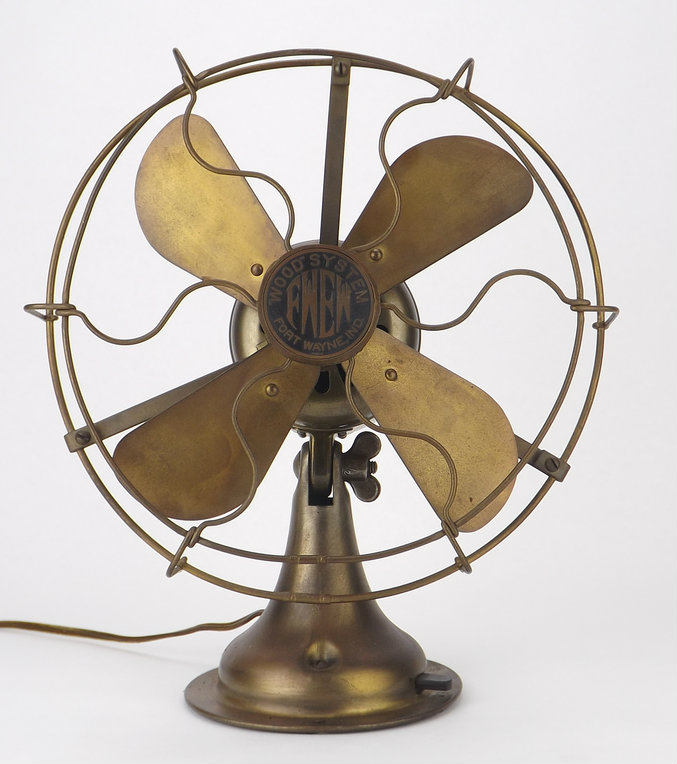 "Rare 8"" FWEW All Brass Fan"