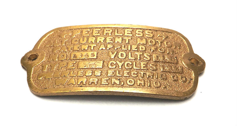 Cast Tag for Peerless Type B Spin Start