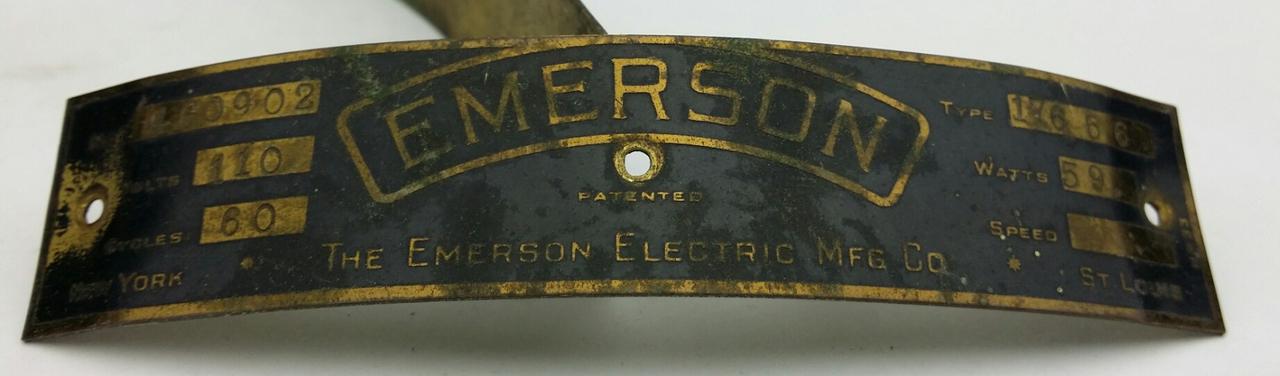 Original Emerson 17666 Motor Tag