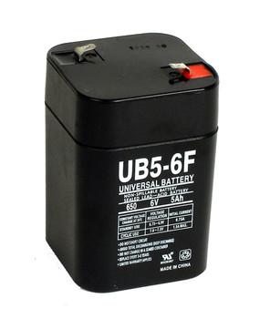 UB650F Lantern - 6 Volt 5 Ahr SLA Battery