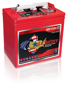 US 2200 XC2 - 6 Volt Deep Cycle Battery -Golf Cart Group Size-