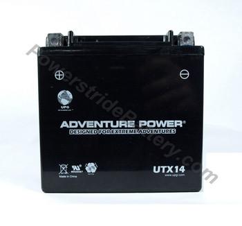 Adventure Power UTX14 AGM Battery - YTX14-BS