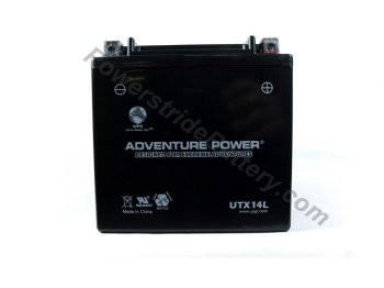 Adventure Power UTX14L AGM Motorcycle Battery - YTX14L-BS