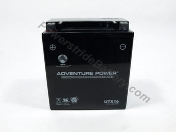 Adventure Power UTX16 AGM Battery - YTX16-BS