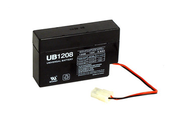 12 Volt 0.8Ah SLA Battery with 2 Pin Quick Disconnect
