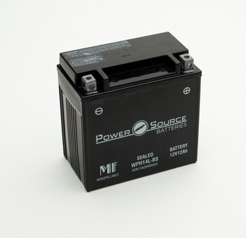 WPH14L-BS AGM Motorcycle Battery - YTX14L-BS