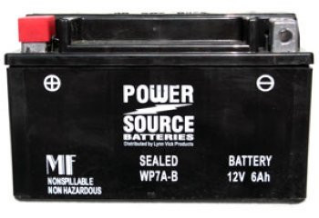 Power-Sonic PTX7A-BS AGM Motorcycle Battery