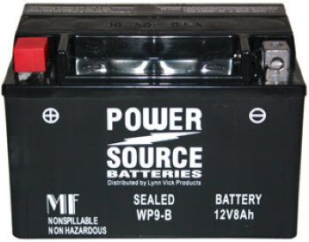 WP9-BS AGM Motorcycle Battery - YTX9-BS