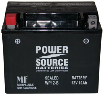 WP12-BS AGM Motorcycle Battery - YTX12-BS