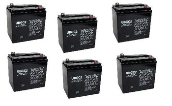 6 Volt AGM Golf Cart Batteries - SET OF 6 - UB-GC2