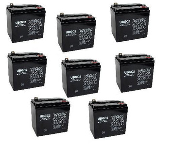 6 Volt AGM Golf Cart Batteries - SET OF 8 - UB-GC2
