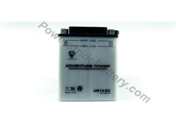 Replacement for Interstate YB14-B2 Battery