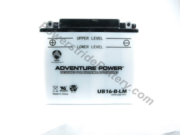 Replacement for Interstate YB16-B-LM Battery
