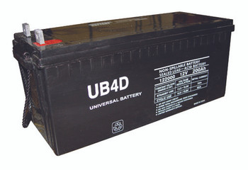 4D AGM Marine Battery - UB-4D AGM (L Post Terminals) (45965)
