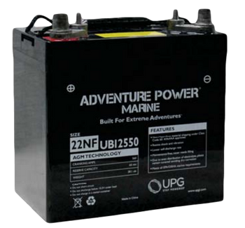 Group 22NF AGM Marine Battery - Adventure Power UB12550