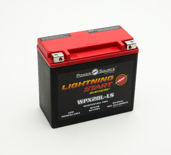 WPX20L-LS AGM Motorcycle Battery | LIGHTNING START