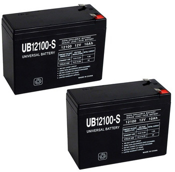 12 Volt 10 Ah SLA Battery - 2-Pack
