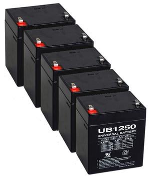 12 Volt 5 Ah SLA Battery - 5 Pack