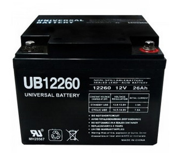UB12260 - 12V 26Ah Internal Thread SLA