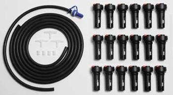 Douglas Forklift Battery Watering Kit for 18 Cells - TB5 Valves
