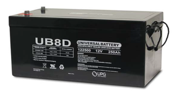 UB-8D AGM Battery - UB-8D Battery (w/ Auto Posts) (45971)