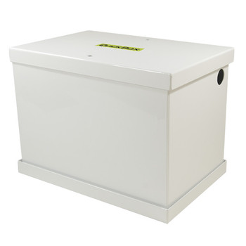 QuickCable Group 24/27 Aluminum Battery Box - White